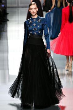 Christian Dior 2012Fall RTW Paris Still loving the black and blue driven looks this season