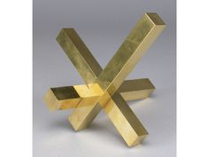 Max Bill Sculptures in Museums | ... Auction Gallery Image 1 Max Bill gilt brass sculpture, `Unit in Thre