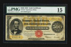 u.s. five hundred dollar bill | 100 Dollar Bill Gold Certificate http://www.paper-money.net/five ...