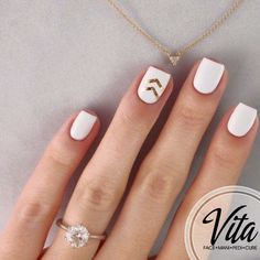 White and golden nails