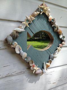Seashell Fish Mirror/Beach House/Seashell Home Decor ~by My Honeypickles