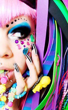 girl rainbow