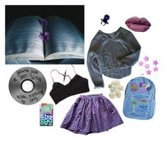 """Night"" by rosebloss ❤ liked on Polyvore featuring American Apparel, My Mum Made It, Ganni, set, skirt, Sweater, candy and tictac"