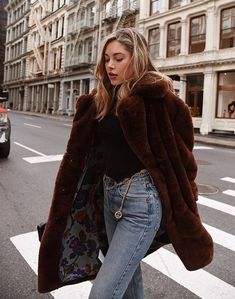 ɠ ơ ơ ɖ Ɩ ı ʄ ɛ ✨ | Fluffy jacket and eco fur | Discover more cold weather looks on www.primpymag.com/ | #snow #freezing #primpystyle #primpytips