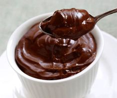Sobremesa low carb de chocolate   Brigadeiro de colher