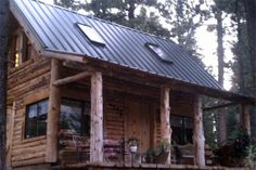 Dooley's wood works - Small cabins love the skylights, metal roof, big windows, porch!