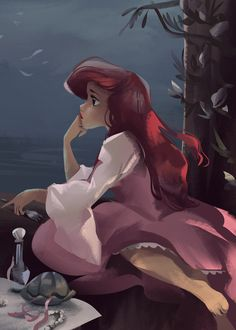 Disney *ARIEL ~ The Little Mermaid, Superfoods for Wholesome Hair We've all realized via the years { Disney Kunst, Arte Disney, Disney Magic, Disney Princess Art, Disney Fan Art, Princesa Ariel Disney, Ariel Ariel, Disney Mignon, Animation Disney