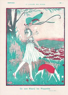 Nive 1919 The language of flowers, elegant greyhound