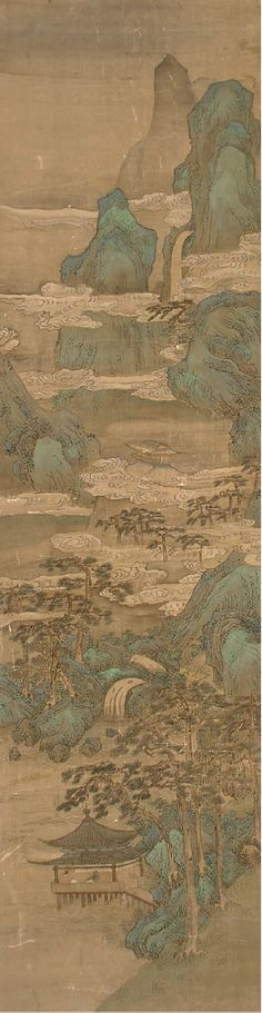 A SET OF FOUR CHINESE HANGING SCROLLS, 19TH CENTURY.