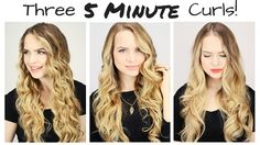"Three *5 Minute* Curls!  I hope you enjoy these methods! Use the code ""LETITGO"" for 70% off the NuMe site including the Lustrum http://goo.gl/fvhcsI ""NuMeGift"" for 10% off the crazy ..."
