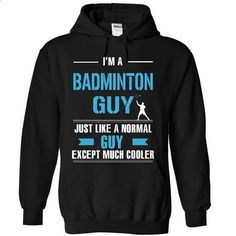 Cool Badminton guy - #sleeveless hoodies #capri shorts. BUY NOW =>…