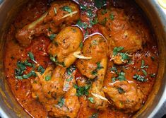 Achari Murgh- Chicken cooked in pickling spices, ginger, chilli & tomatoes with a garnish of fresh coriander served with roomali roti or naan. One of the most popular curries that's a must try! Recipe on my website link in profile! #chicken #dinner #recipe