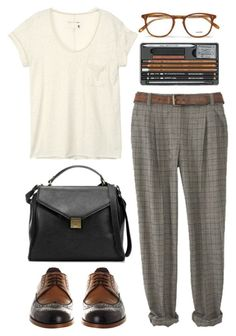 Untitled by hanaglatison on Polyvore featuring polyvore, fashion, style, rag & bone, Office, Zara, Garrett Leight, women's clothing, women's fashion, women, female, woman, misses and juniors