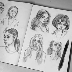 By tomasz mro fashion sketches, art sketches, realistic drawings, cool drawings, pencil Realistic Drawings, Art Drawings Sketches, Cool Drawings, Pencil Drawings, Arte Sketchbook, Pin Art, Sketchbook Inspiration, Art Inspo, Art Reference