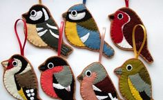 A couple of bits and bobs to mention today...  Love birds? You can now buy a full set of seven British garden bird ornaments  over in my Ets...