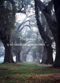 'Muñevete y el camino aparecerá' Provebio Zen.  Sabiduría, autoayuda, superación, desarrollo personal, encontrar la felicidad, ser fuerte, no tener miedo, depresión, psicología, filosofía.