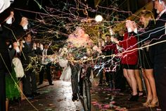 What wedding is complete without a silly string exit? Oh, that's right...just this one! Together in Tandem //  Life Design Event Planning