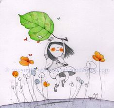 by Francesca Quatraro Kid Character, Character Design, Tableaux D'inspiration, Art Journal Pages, Children's Book Illustration, Whimsical Art, Girl Cartoon, Love Art, Illustrations Posters