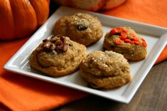 5 Orange Recipes for 'Orange is the New Black' Season — Shockingly Delicious Orange Recipes, Sweet Recipes, Fun Recipes, Pumpkin Chocolate Chip Cookies, Toasted Pecans, No Bake Cookies, Popular Recipes, Just Desserts, Food To Make