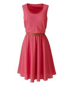 Sleeveless Dress With Tan Belt at Simply Be (COBALT $39.95)