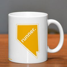 Nevada State Runner Ceramic Mug | Running Coffee Mugs | Coffee Mugs for Runners