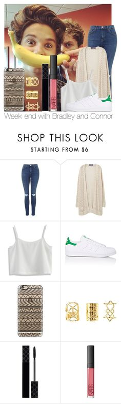 """""""Week End With Bradley And Connor"""" by hazzgirl03 ❤ liked on Polyvore featuring beauty, Topshop, Violeta by Mango, Chicwish, adidas, Casetify, Charlotte Russe, Gucci and NARS Cosmetics"""