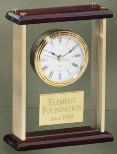 Mahogany, Glass & Gold Mantel Clock from www.theisenclock.com makes a nice corporate gift.