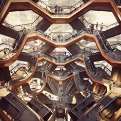 "Heatherwick unveils staircase structure as ""centrepiece"" for New York's Hudson Yards…"