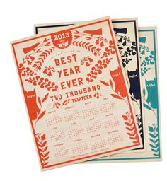 20 stunning examples of calendar design for 2013 | Creative Bloq
