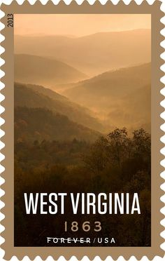 West Virginia Stamp.  Happy West Virginia Day 150 years in 2013!!!