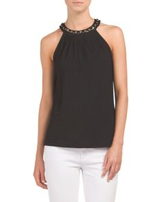 Halter+Tank+With+Neck+Detail