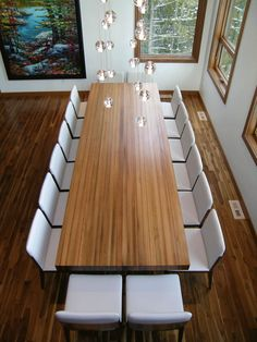 Love this gorgeous table and these chairs by James Hopper
