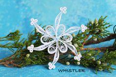 Solo copo de nieve de ALTA conjunto - papel quilled ornamento - decoración de la…