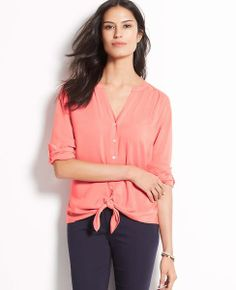 Tie- front shirt- so effortlessly chic