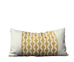 SOHIL I Outdoor pillow in sunny yellow on white I www.sohildesign.com