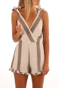 Breaking Rules Playsuit White