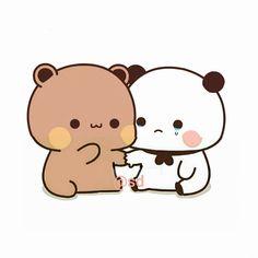 Cute Panda Cartoon, Cute Cartoon Images, Cute Cartoon Characters, Cute Love Cartoons, Cartoon Pics, Cute Cartoon Wallpapers, Cute Couple Comics, Cute Couple Art, Power Point Gratis