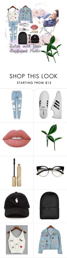 """Dates With Your Boyfriend Hoshi!"" by dillscorner ❤ liked on Polyvore featuring Topshop, adidas, Lime Crime, Stila, ZeroUV, Rains and Chicnova Fashion"