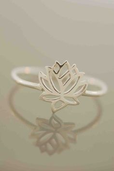 Tiny Wonders Lotus Ring by TeriLeeJewelry on Etsy, $28.00 size 7