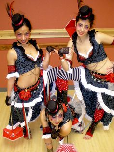 Circus bellydance fusion!  :D  These are just too cute, maybe for a themed dance sometime. :)