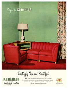 1947 Cushionized Furniture By Kroehler