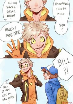 Crossover Gravity Falls/ Pokemon Go Dipper And Spark Who is Bill !! Part 2/5