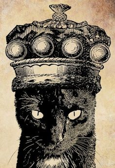 King cat crown PNG Digital Image Download by VellasCollageSheets, $1.99
