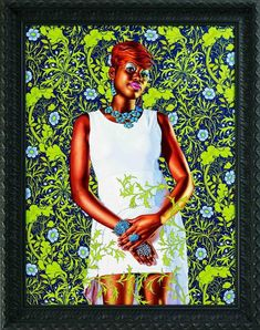 Kehinde Wiley Studio - Portrait of a Lady, 2013 Oil on canvas x African American Artist, American Artists, Jamaican Art, Kehinde Wiley, San Francisco Art, Black Artists, Studio Portraits, Magazine Art, Beautiful Artwork