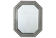 Love this mirror! One Kings Lane - Power Palette - Taza Mirror Octagon Mirror, Black And White Frames, Black White, White Gold, Cents Of Style, Wood Mirror, Mirror Mirror, Mirror Painting, Beautiful Mirrors