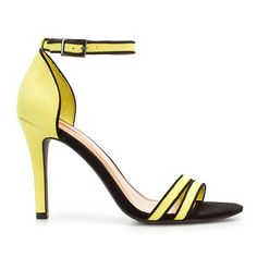 When it comes to wedding-worthy shoes, Zara's strappy black and yellow sandals are a wise buy.
