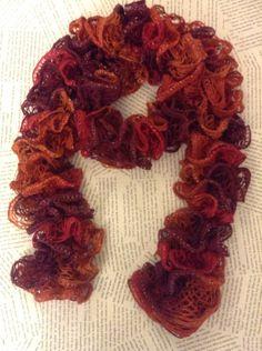 Warm Orange and Red Sashay Scarf by AshleyDoddCreations on Etsy