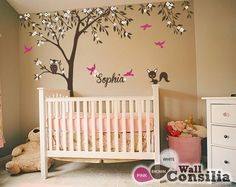 Baby Nursery Wall Decals  Tree Wall Decal  Tree by WallConsilia, $92.00.......Omg, loooove this. If I have a girl this is so it for bedroom deco