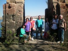 One of the highlights of this particular trip was our visit to the original location of the Temple of Isis.  And this is that very special group that came on this special mission of 11.11.11