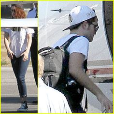 Kristen Stewart & Robert Pattinson Jet Out on Private Plane!